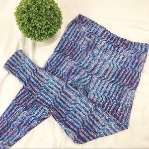 Lularoe Tall & Curvy geometric print leggings